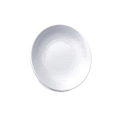 "Elite Global Solutions D638RR-W 6.38"" Pebble Creek Plate - Melamine, White"