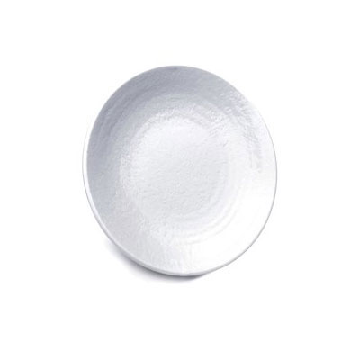 "Elite Global Solutions D814RR-W 8.25"" Pebble Creek Plate - Melamine, White"