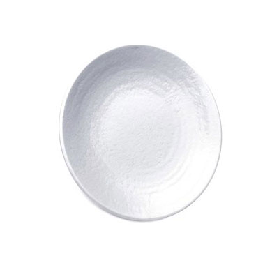 "Elite Global Solutions D9RR-W 9"" Pebble Creek Plate - Melamine, White"