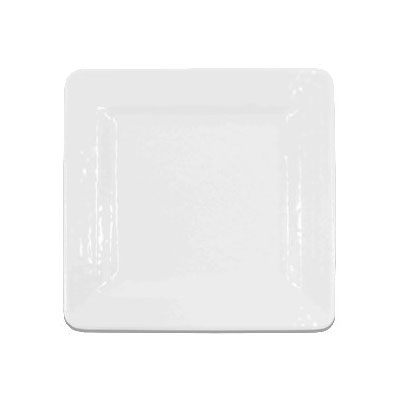 "Elite Global Solutions D9SQRR-W 9"" Pebble Creek Plate - Melamine, White"