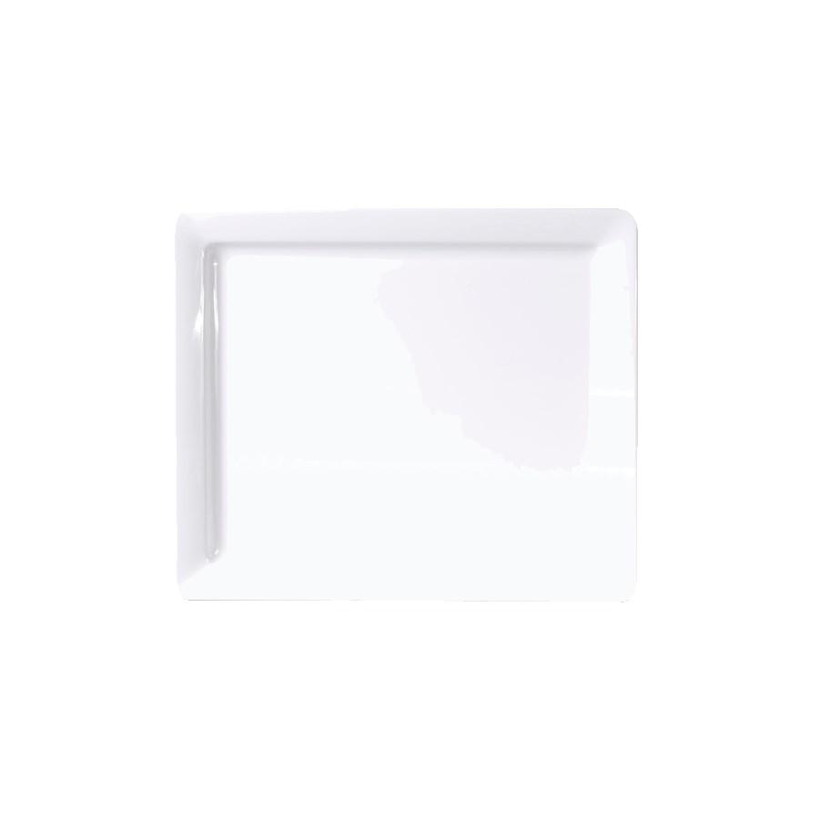 "Elite Global Solutions M1013RC-W Rectangular Vogue Serving Platter - 13"" x 10.5"", Melamine, White"