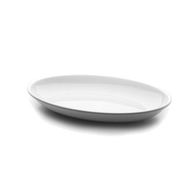 "Elite Global Solutions M1216OV-NW Foundations Oval Platter - 16"" x 12"", Melamine, White"
