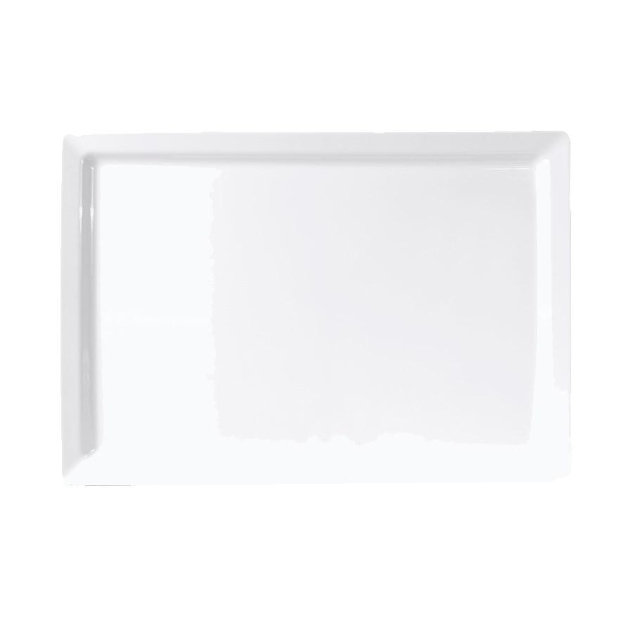 "Elite Global Solutions M1420-W Rectangular Vogue Serving Platter - 20"" x 14"", Melamine, White"