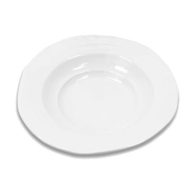 Elite Global Solutions M14B-W 44-oz Della Terra Serving Bowl - Melamine, White