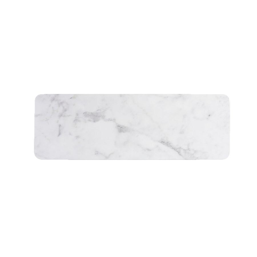 "Elite Global Solutions M186RCM-C Rectangular Sierra Serving Board - 18"" x 6"", Melamine, Faux Carrera Marble"