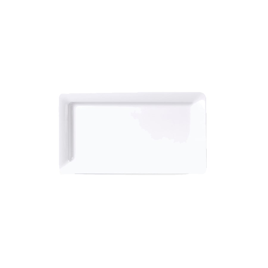 "Elite Global Solutions M8131RC-W Rectangular Vogue Serving Platter - 13"" x 8.38"", Melamine, White"
