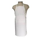 "Chef Revival 401BA-NP Bib Apron w/ No Pocket, 25 x 34"", White"