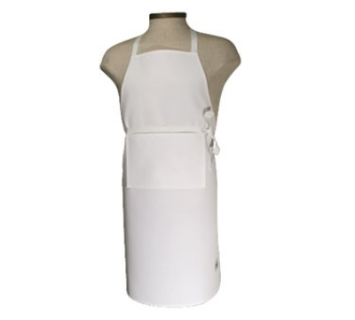 Chef Revival 401BA-NP Bib Apron w/ No Pocket, 25 x 34-in, White