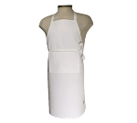 Chef Revival 401BA Bib Apron w/ Adjustable Neck Tie, 25 x 24-in, White