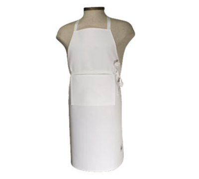 "Chef Revival 401BA Bib Apron w/ Adjustable Neck Tie, 25 x 24"", White"