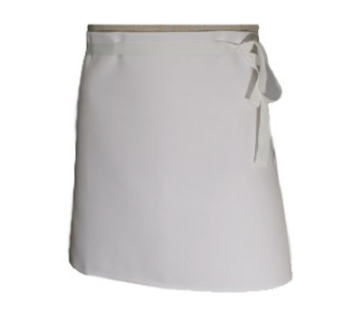 Chef Revival 403FW Waist Apron, 4-Way, 30 x 16-in, White