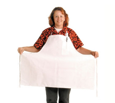 "Chef Revival 600BAW-XL Bib Apron, Poly/Cotton, Extra Wide, Pocket, 30 x 40"", White"