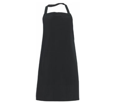 "Chef Revival 600PS-NP-BK Bib Apron, Polyspun, 30 x 34"", Black"