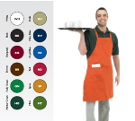 "Chef Revival 601BAC-BG Full Length Bib Apron, Blended Twill, 30 x 34"", Burgundy"
