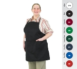 Chef Revival 601BAO-3-BK Bib Apron, 3-Compartment Pocket, Twill Blend, 28 x 30-in, Black