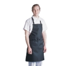 "Chef Revival 601MAJ-BK Waterproof Bib Apron, Vinyl Backing, Fire Retardant, 30 x 34"", Black"