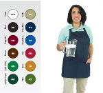 Chef Revival 602BAFH-RD Bib Apron, Twill Blend, 25 x 27-in, 3-Pocket, Red