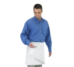 "Chef Revival 603FW 4-Sided Apron, Poly/Cotton, 34 x 34"", White"