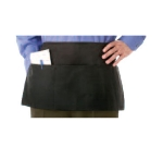 "Chef Revival 605PS-BK Waist Apron, Polyspun, 12 x 24"", 3 Pocket, Black"