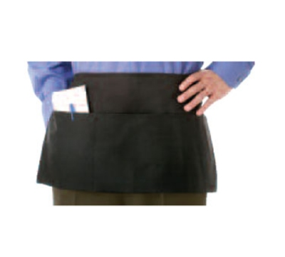 Chef Revival 605PS-BK Waist Apron, Polyspun, 12 x 24-in, 3 Pocket, Black