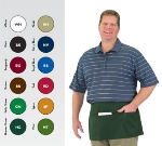 "Chef Revival 605WAFH-GN Waist Apron, Twill Blend, 12 x 24"", 3-Pocket, Kelly Green"