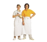"Chef Revival 607BA Bistro Apron, Heavyweight Twill, 28 x 34"", X-Long Ties, White"