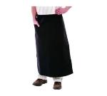"""Chef Revival 607PS1-BK Bistro Bar Apron, Polyspun, 30 x 34"""", Side Pocket, Black"""