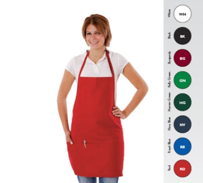 Chef Revival 612BAFH-BK Bib Apron, 28 x 27-in, 3 Pocket, Adjustable Neckband, Black