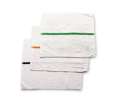 Chef Revival 700BRT-GLS Cotton Striped Bar Towel, 16 x 19-in, White w/ Gold Stripe