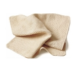"Chef Revival 700WT Waffle Weave Cotton Bar Towel, 18 x 18"", Natural"