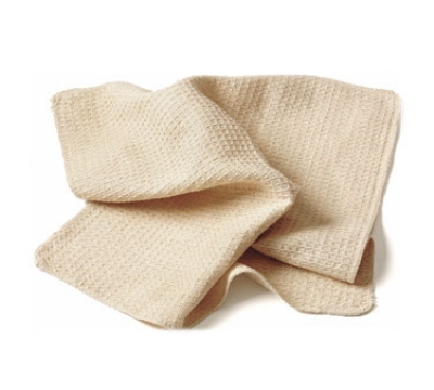 Chef Revival 700WT Waffle Weave Cotton Bar Towel, 18 x 18-in, Natural