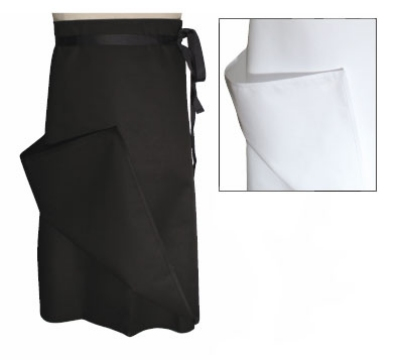 Chef Revival A005 Chef Bistro Waist Apron, 30 x 30-in, Poly Cotton Blend, 4-Way, White