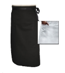 Chef Revival A011BK Chef Bistro Waist Apron, 34 x 29-in, Poly Cotton Blend, Black