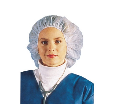 Chef Revival BCAP110CB Bouffant Cap Hairnet, 24-in, Lint-Free, Flame Resistant, Blue