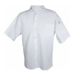 Chef Revival CS006WH-M Poly Cotton Blend Cook Shirt, Medium, Pocket, Short Sleeve, White
