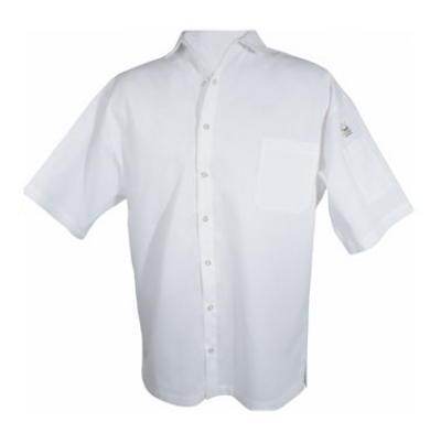 Chef Revival CS006WH-2X Poly Cotton Blend Cook Shirt, 2X, Pocket, Short Sleeve, White