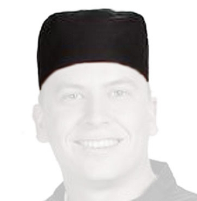 Chef Revival H008-R Chef Pill Box Hat, Regular, Poly Cotton Blend, Black
