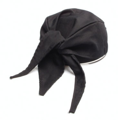 Chef Revival H020BK Chef Scarf Hat, Cotton, One Size, Black