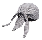 Chef Revival H020HT Chef Scarf Hat, Cotton, One Size, Small Check