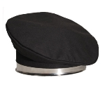Chef Revival H036BK Chef Beret, Poly Cotton Blend, One Size, Black