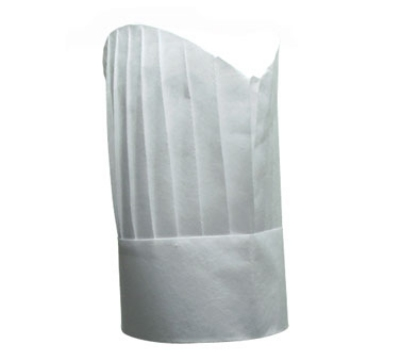 "Chef Revival H055 Corporate Chef Hat, 7"", Reusable Disposable, White"