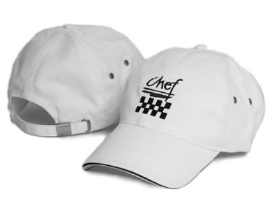 Chef Revival H063WH Chef Cotton Baseball Cap, Adjustable Strap, White