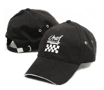 Chef Revival H064BK Chef Cotton Baseball Cap, Adjustable Strap, Black