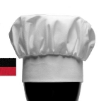 "Chef Revival H400WH Chef Hat, 13"", Heavyweight Poplin Blend, Adjustable, White"