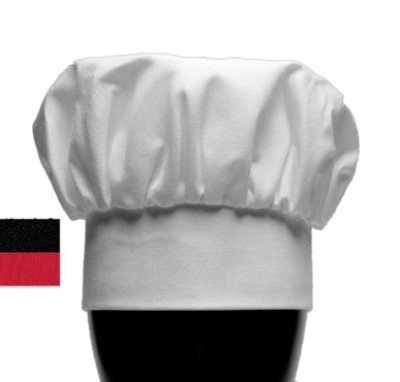 "Chef Revival H400BK Chef Hat, 13"", Heavyweight Poplin Blend, Adjustable, Black"