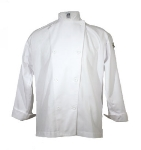 Chef Revival J003-M Poly Cotton Blend Chef Jacket, Cloth Knot, Medium