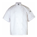 Chef Revival J005-M Poly Cotton Blend Chef Jacket, Short Sleeve, Medium