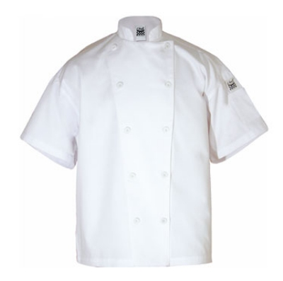 Chef Revival J005-L Poly Cotton Blend Chef Jacket, Short Sleeve, Large