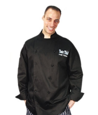 Chef Revival J017BK-3X Cotton Cuisinier Chef Jacket, 3X, Black