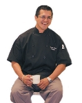 Chef Revival J045BK-4X Poly Cotton Traditional Chef Jacket, Short Sleeve 4X, Black
